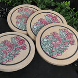 Soapstone Floral Coasters (Set of 4)