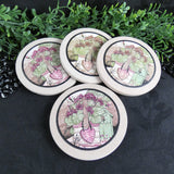 Soapstone Garden Coasters (Set of 4)
