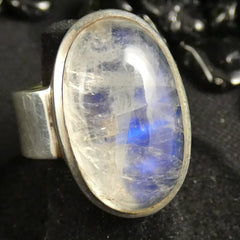 Rainbow Moonstone Ring (Size 8.5-9)
