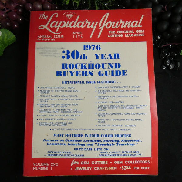 Vintage Lapidary Journal (April 1976)