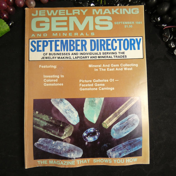 Vintage: Jewelry Making Gems and Minerals (September 1981)
