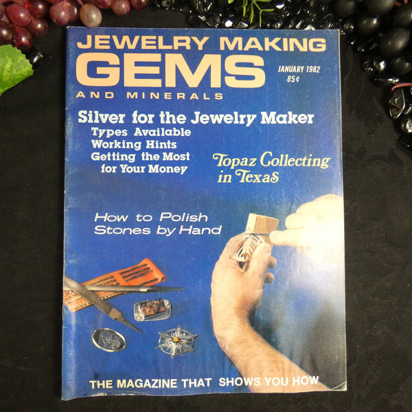 Vintage: Jewelry Making Gems and Minerals (January 1982)