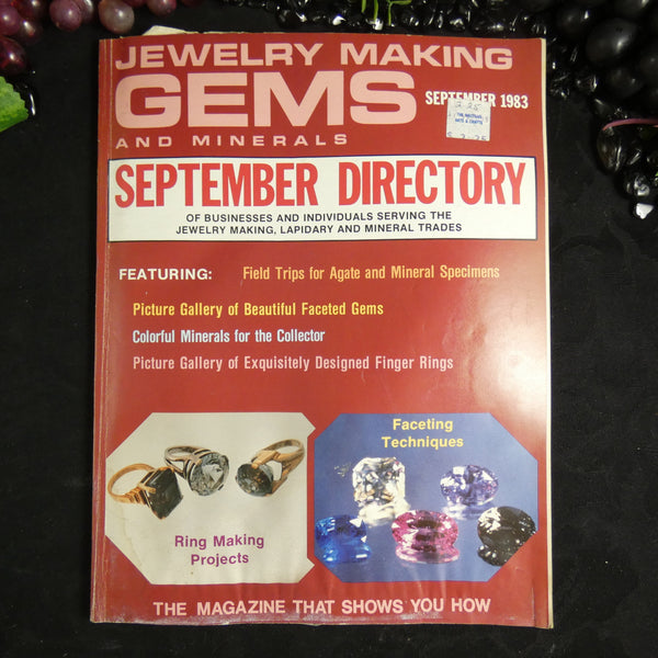 Vintage: Jewelry Making Gems and Minerals (September 1983)