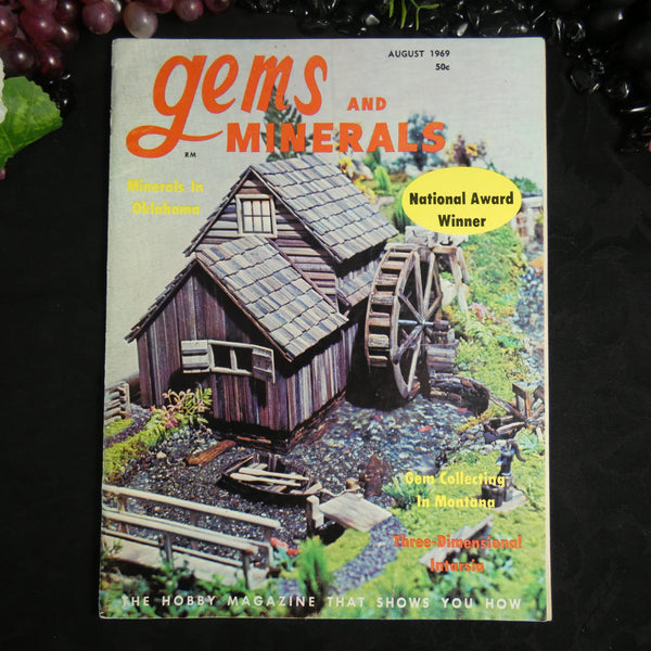 Vintage Gems and Minerals Magazine (August 1969)