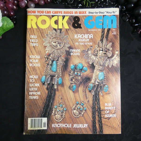 Vintage ROCK & GEM Magazine (November 1977)