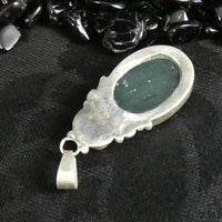 Green Kyanite in Sterling Silver Pendant (9.6 g)