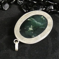 Green Kyanite in Sterling Silver Pendant (17.4 g)