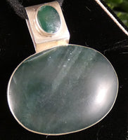 Green Kyanite in Sterling Silver Pendant (12.0 g)