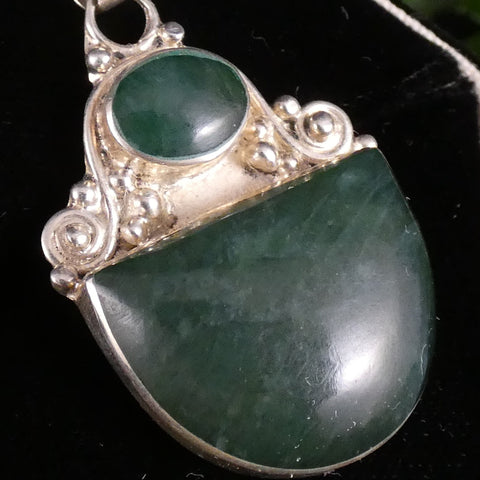 Green Kyanite in Sterling Silver Pendant (9.7 g)