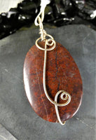 Red Jasper Sterling Silver Pendants (various)