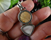 Jasper & Mother of Pearl Sterling Silver Pendant