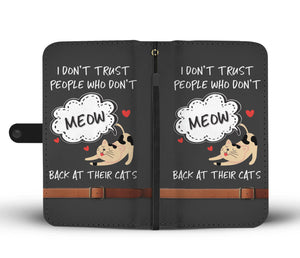 Trusting Cats Wallet Phone Case