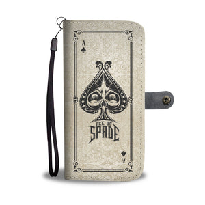 Ace Of Spade White Wallet Phone Case