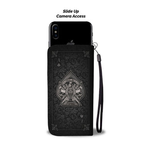 Ace Of Spade Black Wallet Phone Case