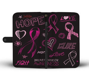 The Pink Ribbon Wallet Phone Case