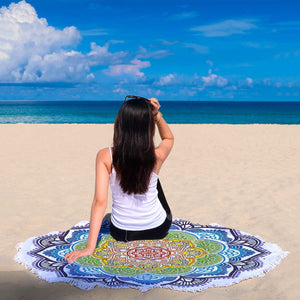 Mandala Design 2 Custom Round Beach Blanket