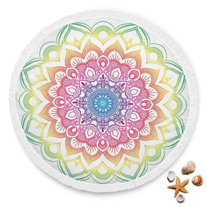 Mandala Design 3 Custom Round Beach Blanket