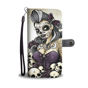 Calavera Girl Design 1 Wallet Phone Case