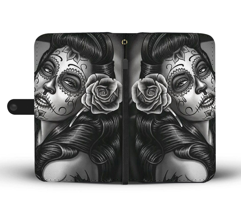 Calavera Girl Design 2 Wallet Phone Case