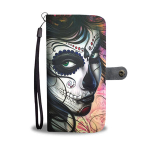 Calavera Girl Design 3 Wallet Phone Case