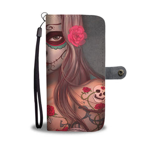 Calavera Girl Design 5 Wallet Phone Case