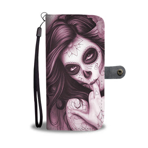 Calavera Girl Design 6 Wallet Phone Case