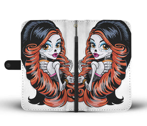 Calavera Girl Design 8 Wallet Phone Case