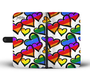 Rainbow Love Wallet Phone Case