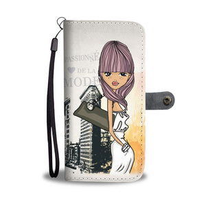 Passionne Fashion Girl Wallet Phone Case