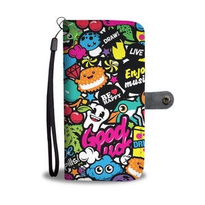 Happy Cartoon Wallet Phone Case