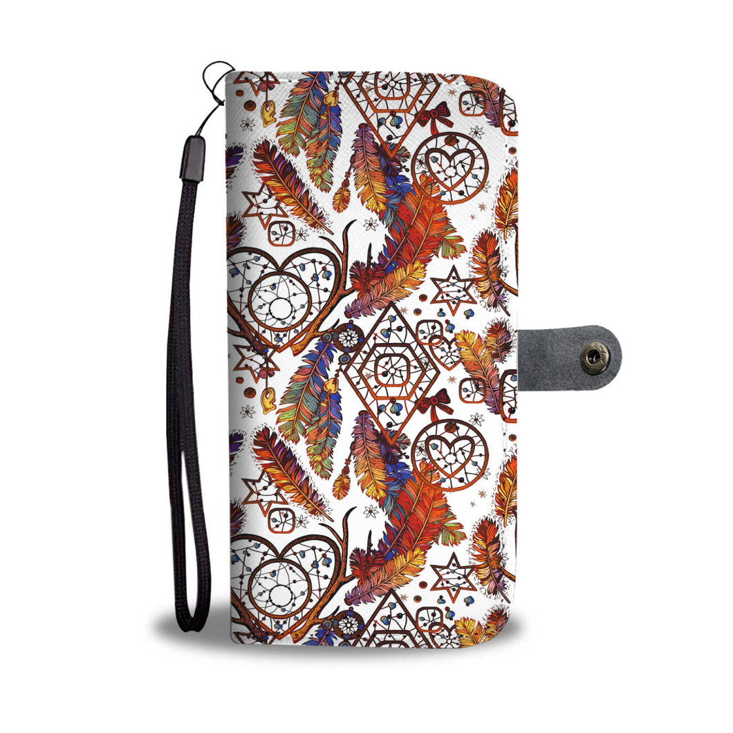 Dream Catcher White Wallet Phone Case