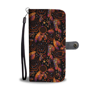 Dream Catcher Black Wallet Phone Case