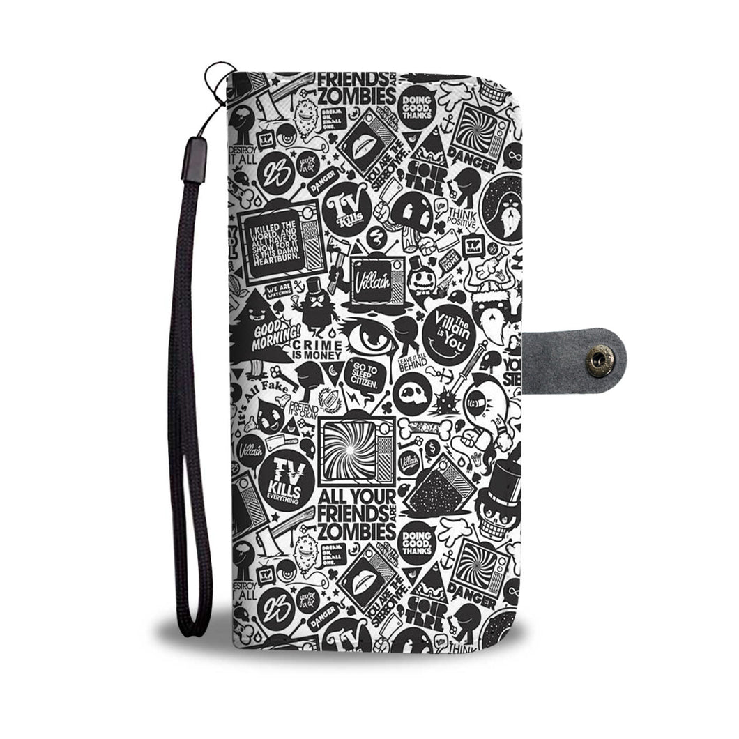 All Your Friends Are Zombies Wallet Phone Case