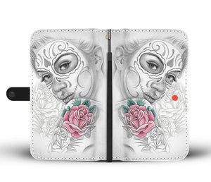 Calavera Girl Design 9 Wallet Phone Case