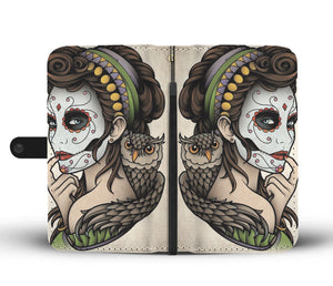 Calavera Girl Design 10 Wallet Phone Case