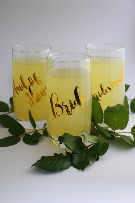HiBall glasses perfect for cocktails. Personalised with