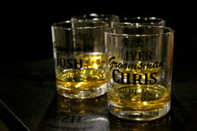 Personalised whisky glasses