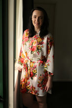 Evelyn Floral Robe - 1 x medium in mint - last one