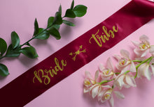 Bride Tribe Sash for bachelorette parties.