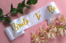 Bride to Be Sash for bachelorette parties.
