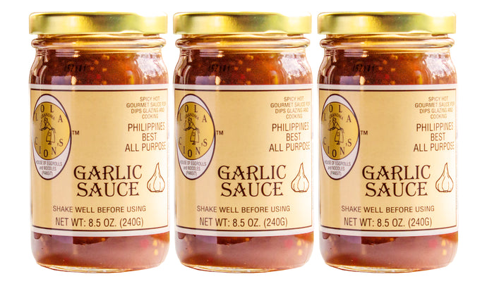 Lola Cion's Garlic Sauce, 8.5 oz. | 3 Pack Bottles | Free Shipping in the U.S.