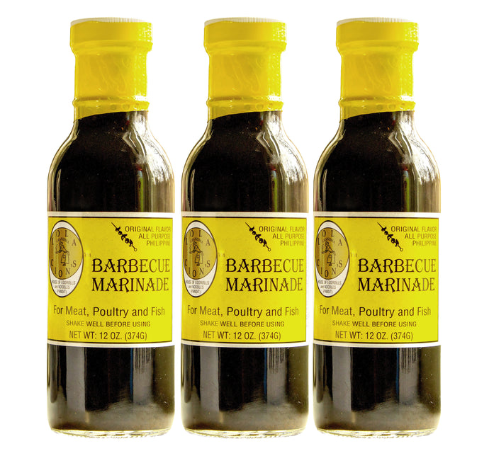 Lola Cion's Original BBQ Marinade, 12 oz. | 3 Pack Bottles | Free Shipping in the U.S.
