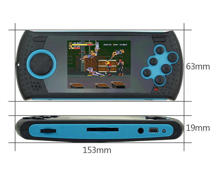 Handheld Game Console Players 16 Bit - SD CARD