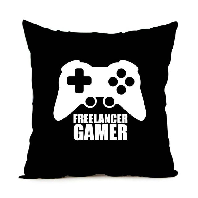 Babaite Funny Gamer Ever for Video Games Geek Custom Printed Christmas Soft Fashion Throw Pillow Covers 2 Sides Print