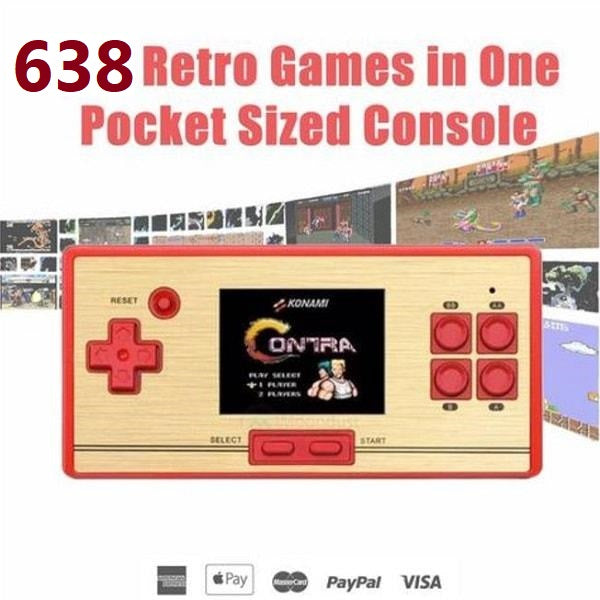 Handheld Video Game Console - 638 Games +BUILT IN CARD