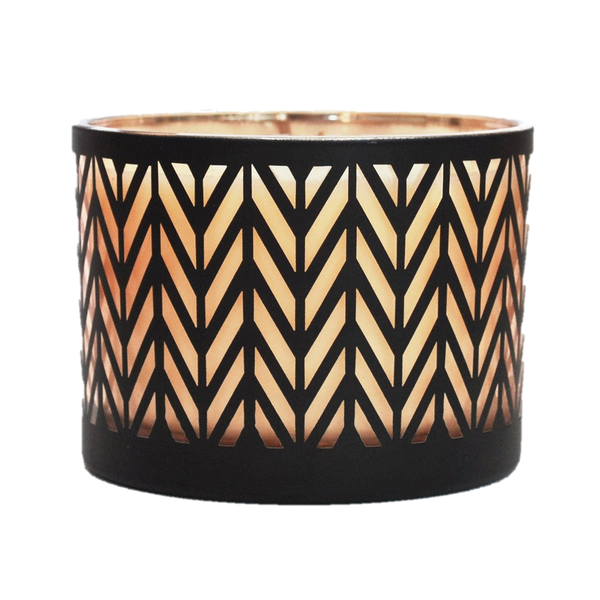 Indigo Flame Soy Candles Retro Woodwick Candle
