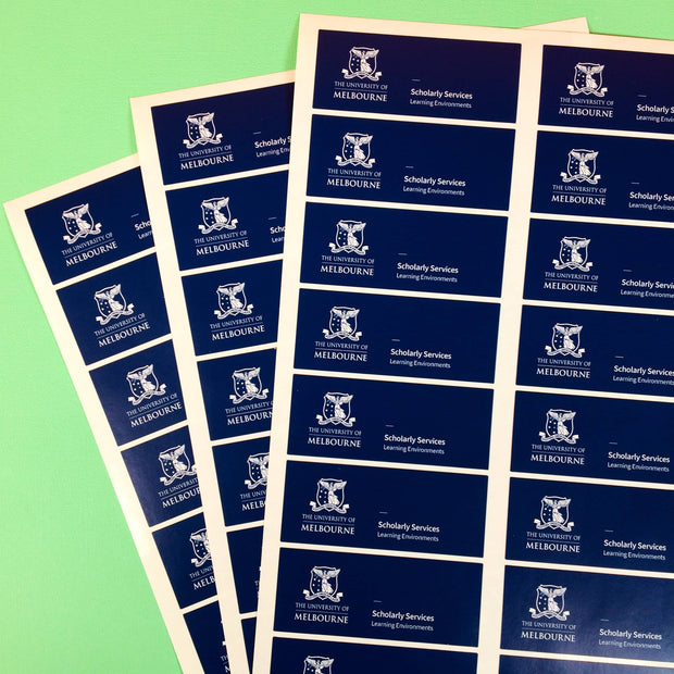 Custom Sticker Sheets printed in Australia for the University of Melbourne