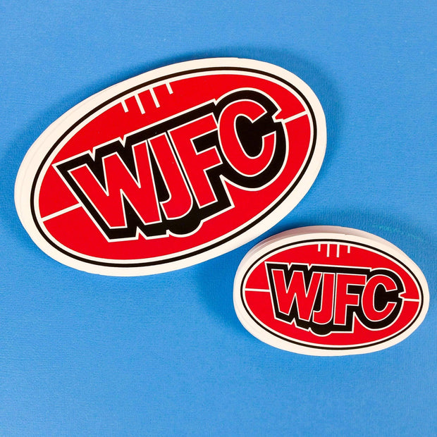 Print custom stickers to promote your local footy club