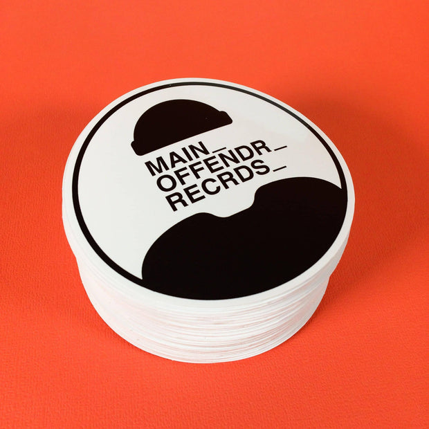 Get custom sticker labels like Main Offender Records!
