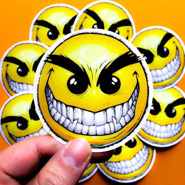 Printed custom designed emoji stickers